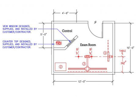 X Ray Room Planning Design Radtech X Ray Inc Vassar MI